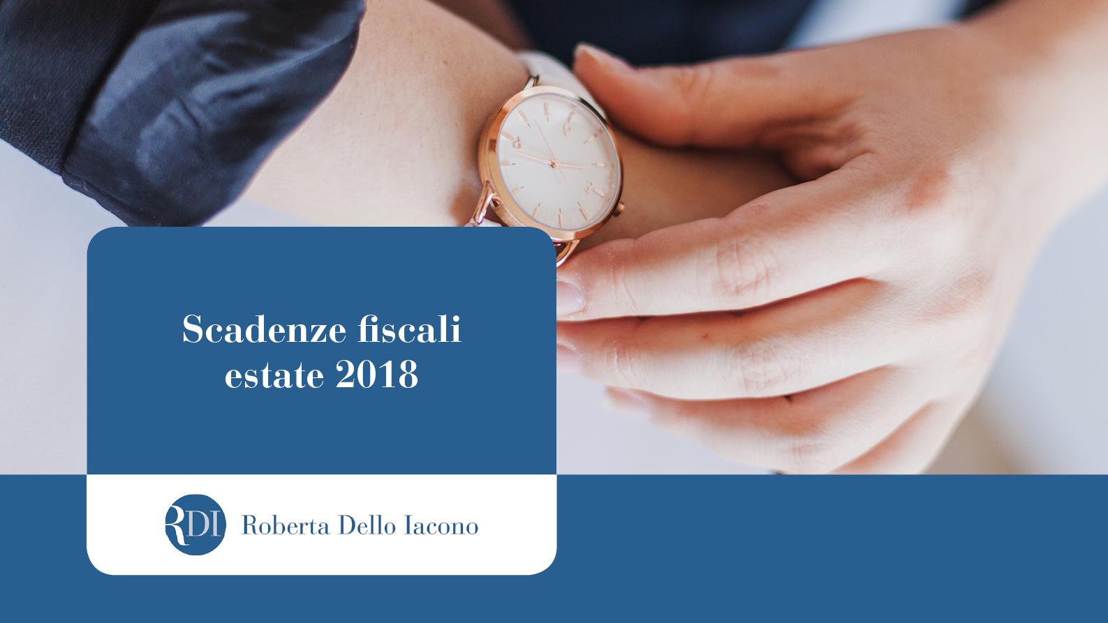 scadenze fiscali estate 2018